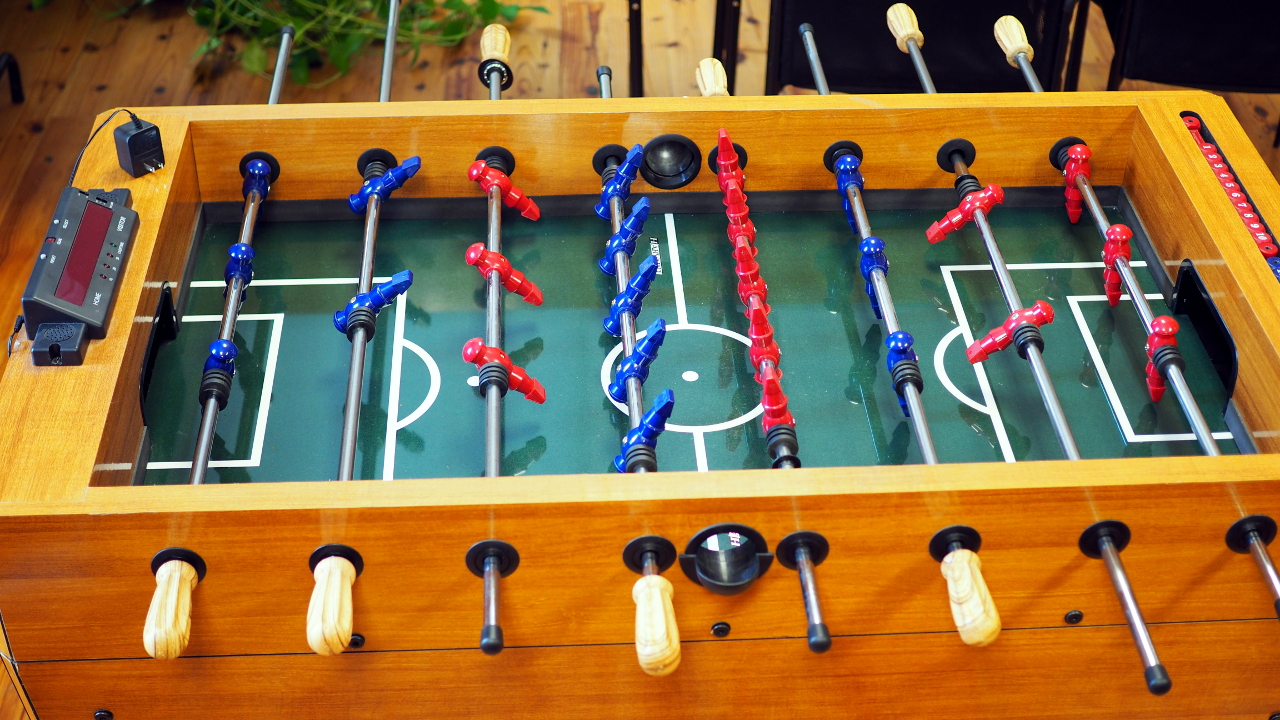 Magnificent Sold Harvard Foosball Table With Electronic Score Keeping Download Free Architecture Designs Remcamadebymaigaardcom